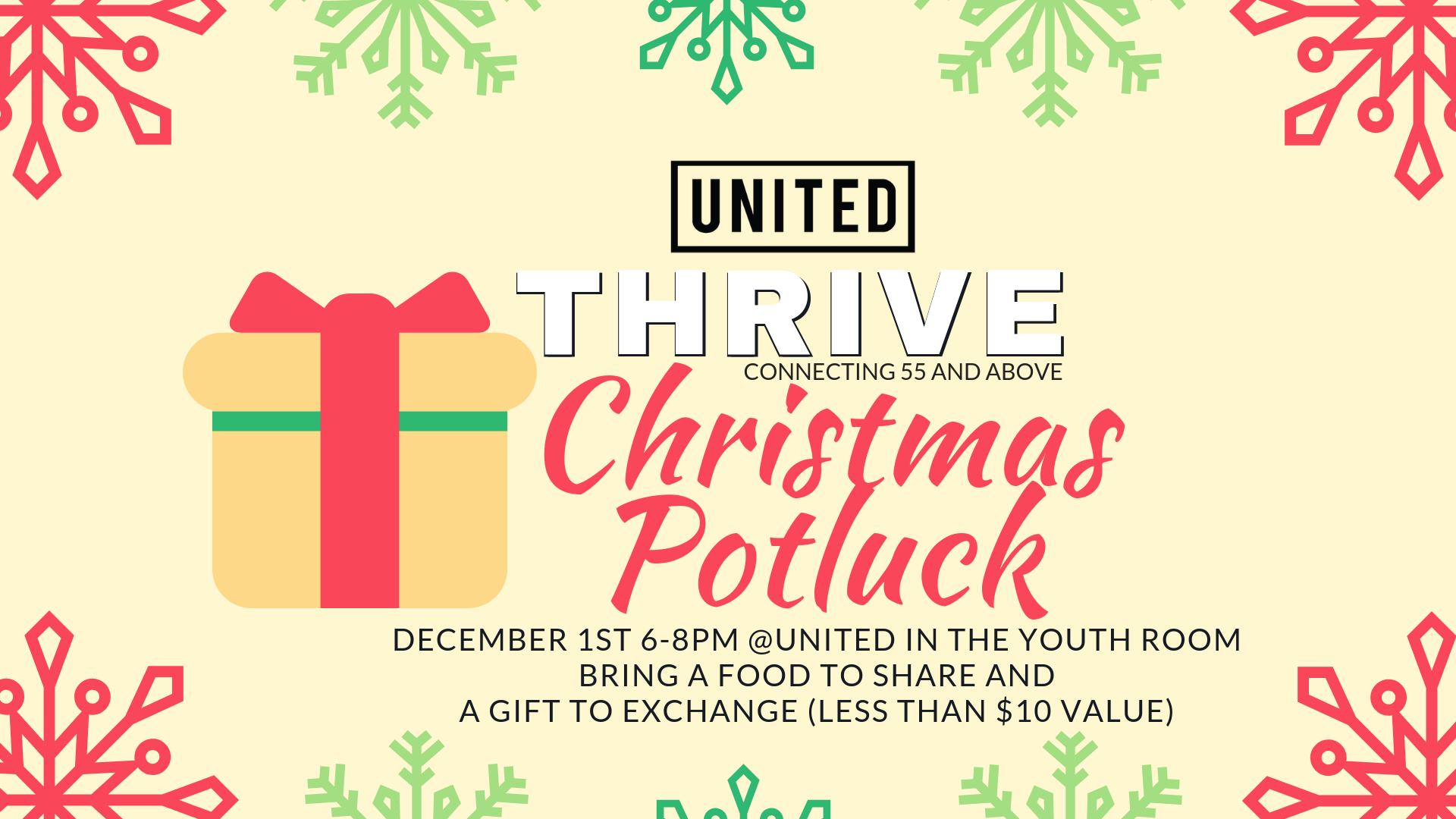 Christmas Potluck.Thrive Christmas Potluck United Church In Gallatin Tn