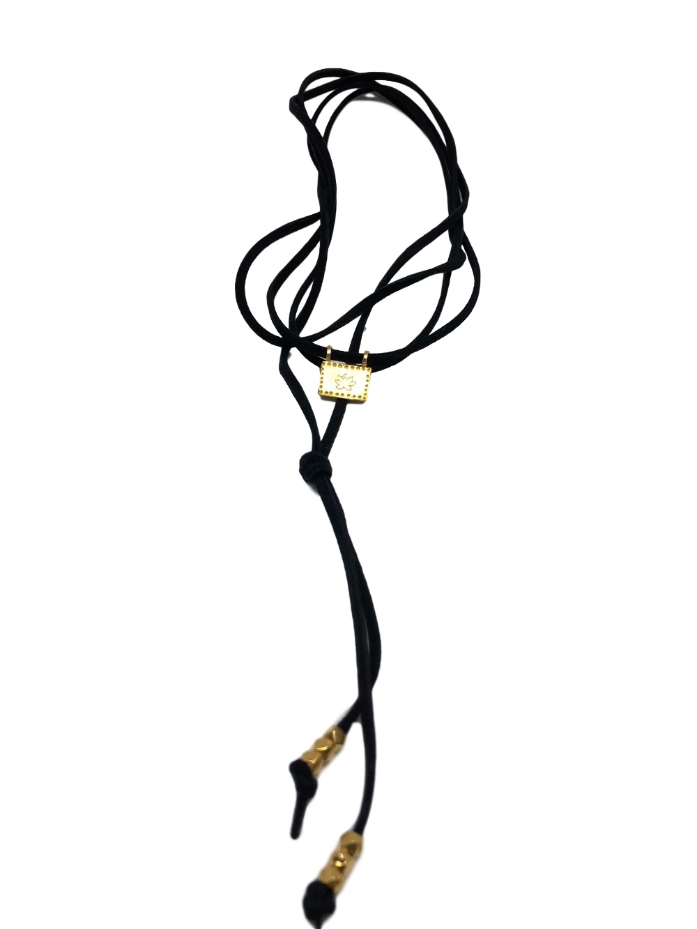 Wrap Necklace Lotus/ Ohm Gold   click on image to shop