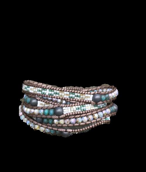 Copy of Copy of Copy of Copy of Copy of Copy of Copy of Copy of Copy of Copy of Copy of Stone Wrap Bracelet