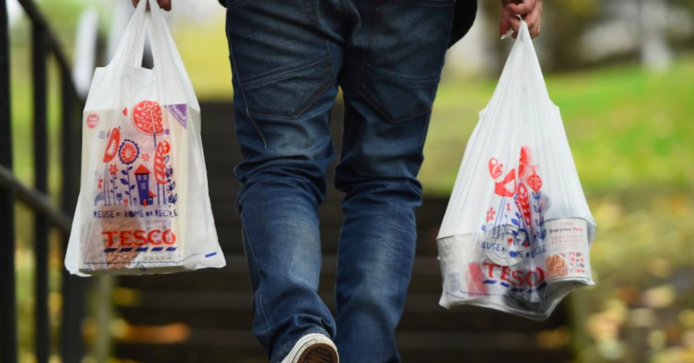 The average lifespan of a plastic bag is 12 minutes.   Getty Images / Jeff J. Mitchell
