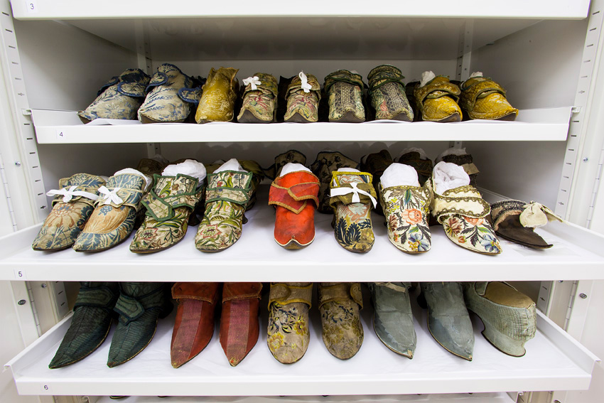 A selection of shoes in The Clothworkers' Centre
