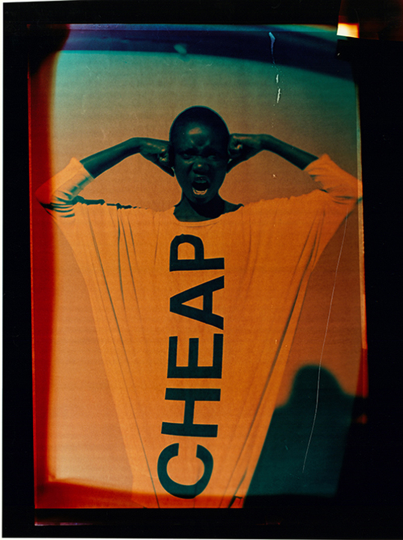 CHEAP CHEAP CHEAP by Lauren Pilgreen, Japo Okworobu and Nicole Paskauskas. 'We want to protest against fast fashion and the way that large companies often plagiarize other designers' creations.'