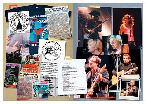 All the music ... Excerpt from scrapbook © Glastonbury Festival