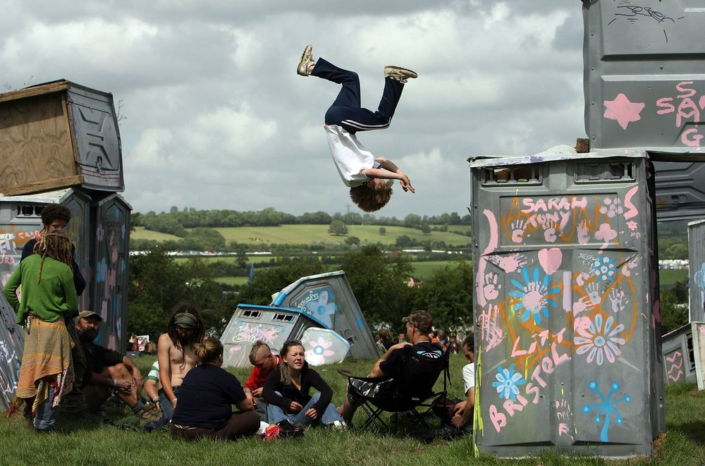 As you do. Somersault © Glastonbury Festival. Photography Matt Cardy.