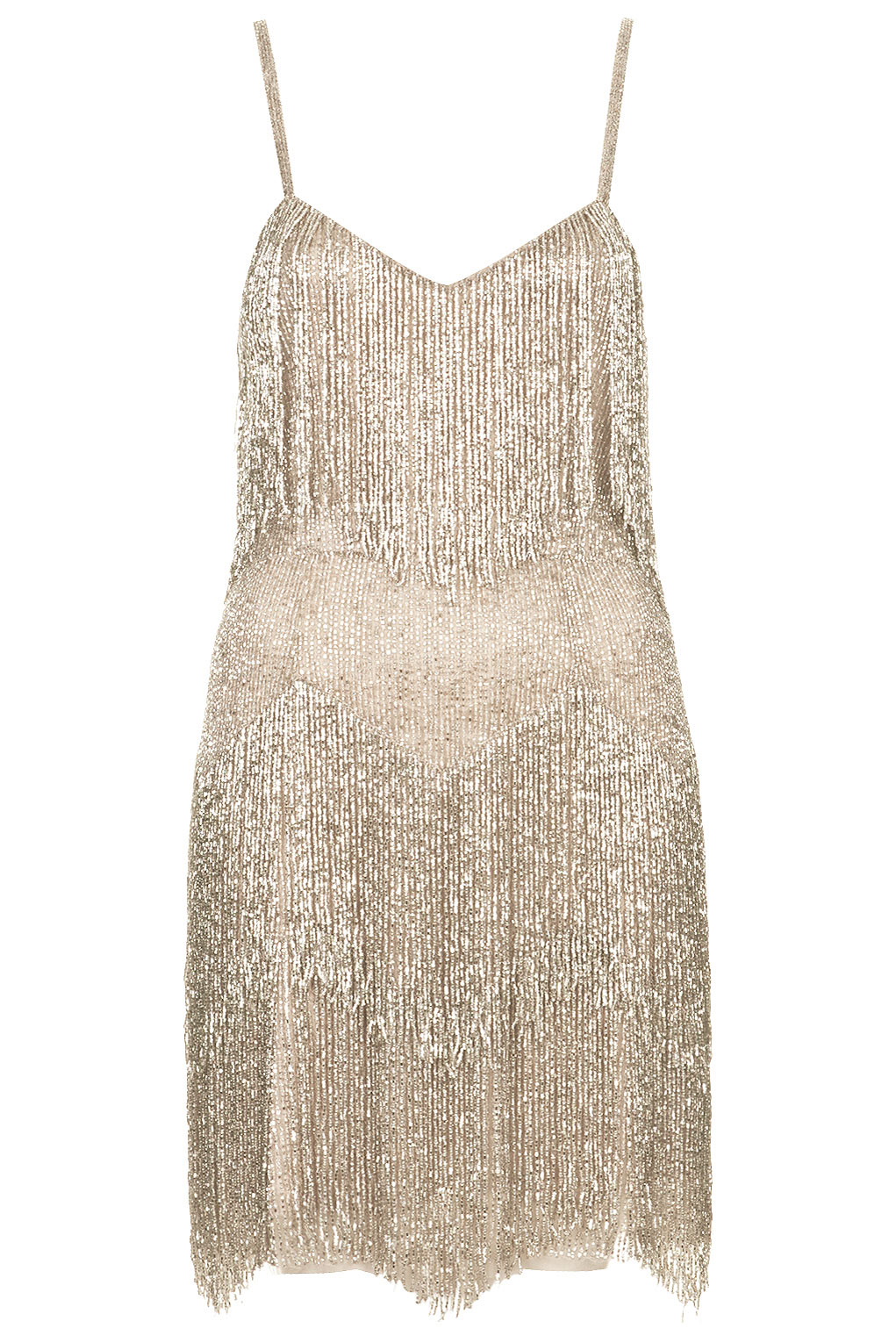 Beaded fringe tiered dress, £250, Kate Moss For Topshop. www.topshop.com