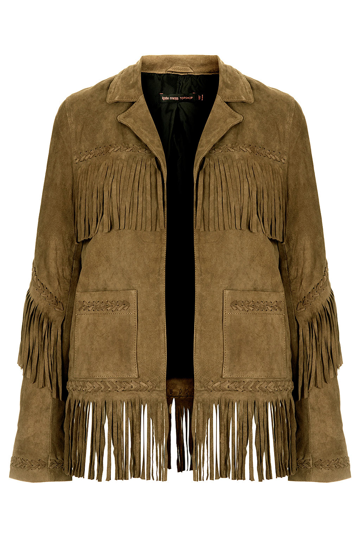 Fringed Suede Jacket, £225, Kate Moss for Topshop. www.topshop.com
