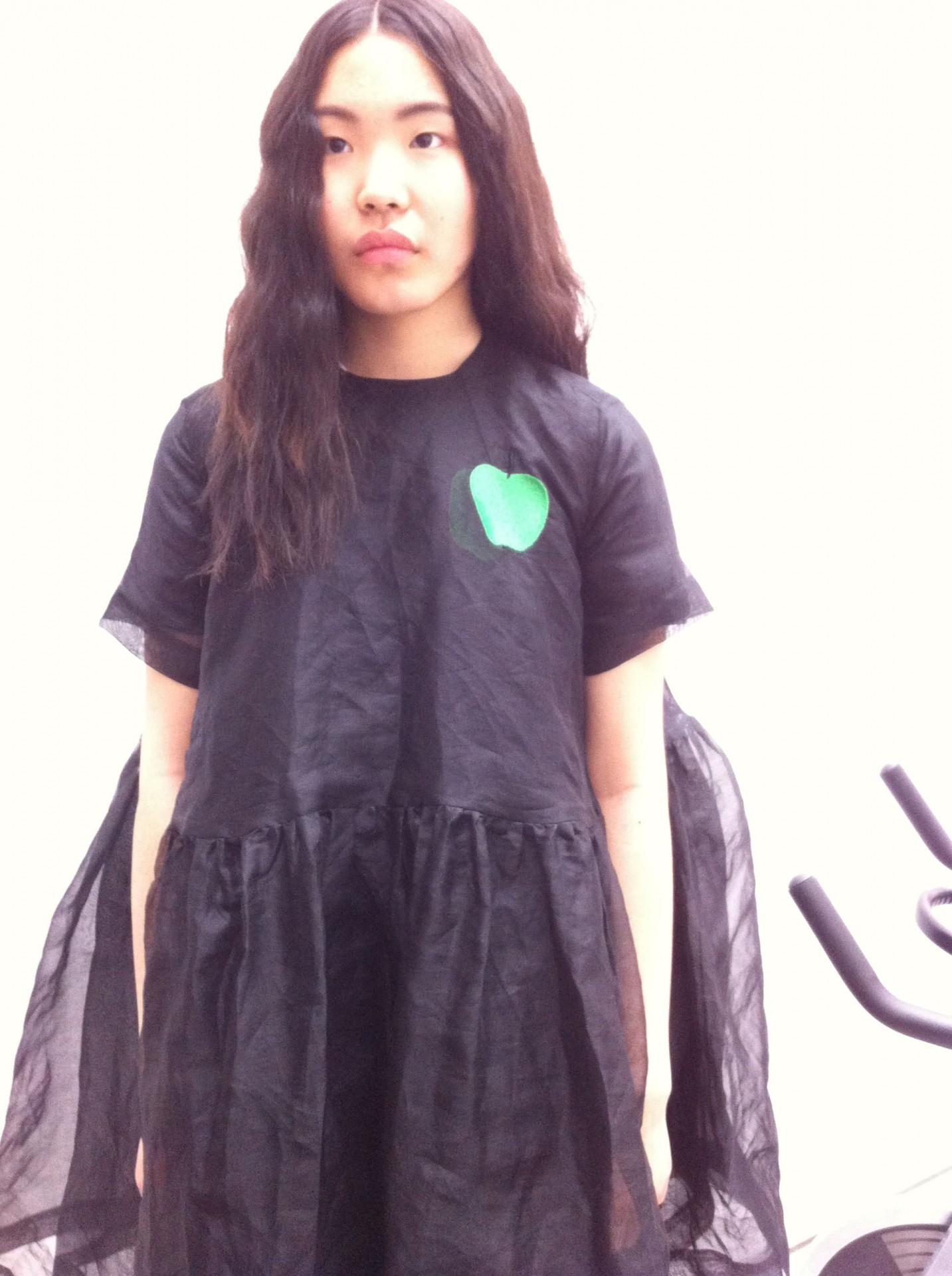 Yoko's favourite colour in black organza