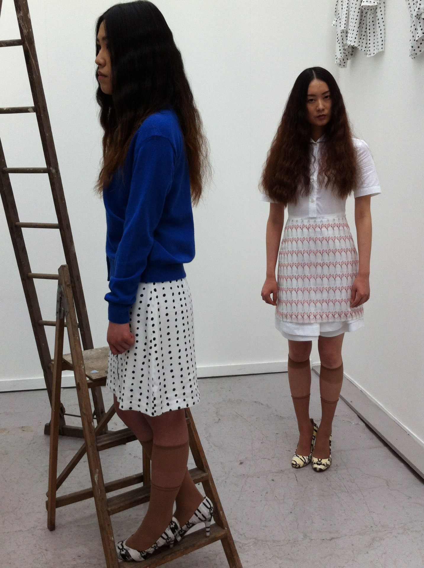 Ono's performance work Cut Piece is the basis for a pencil skirt