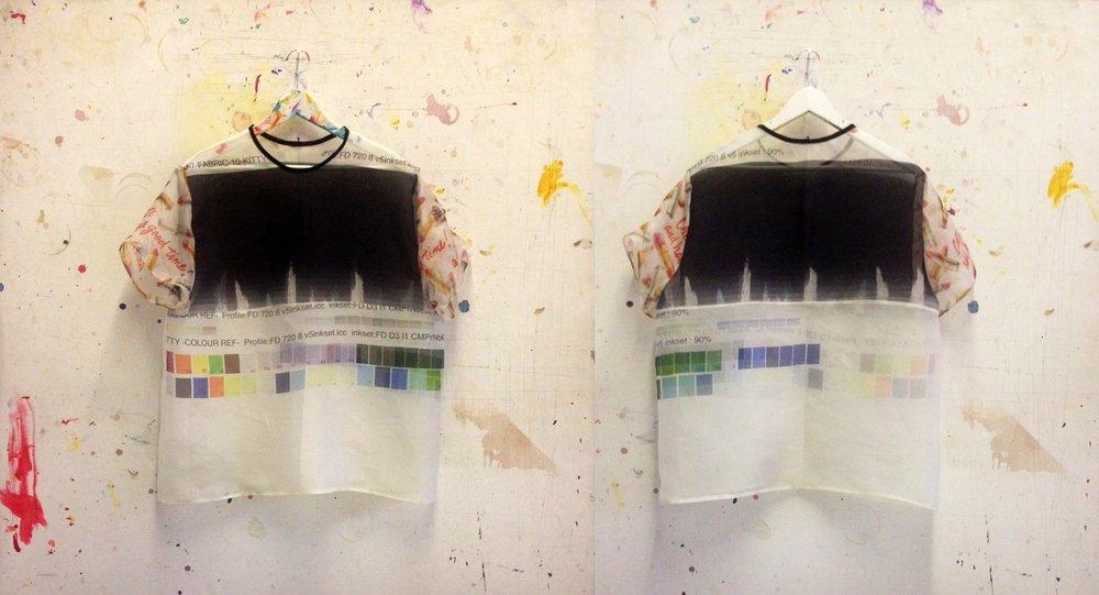 T-shirts using fabrics from Kitty Joseph and Ashley Williams.