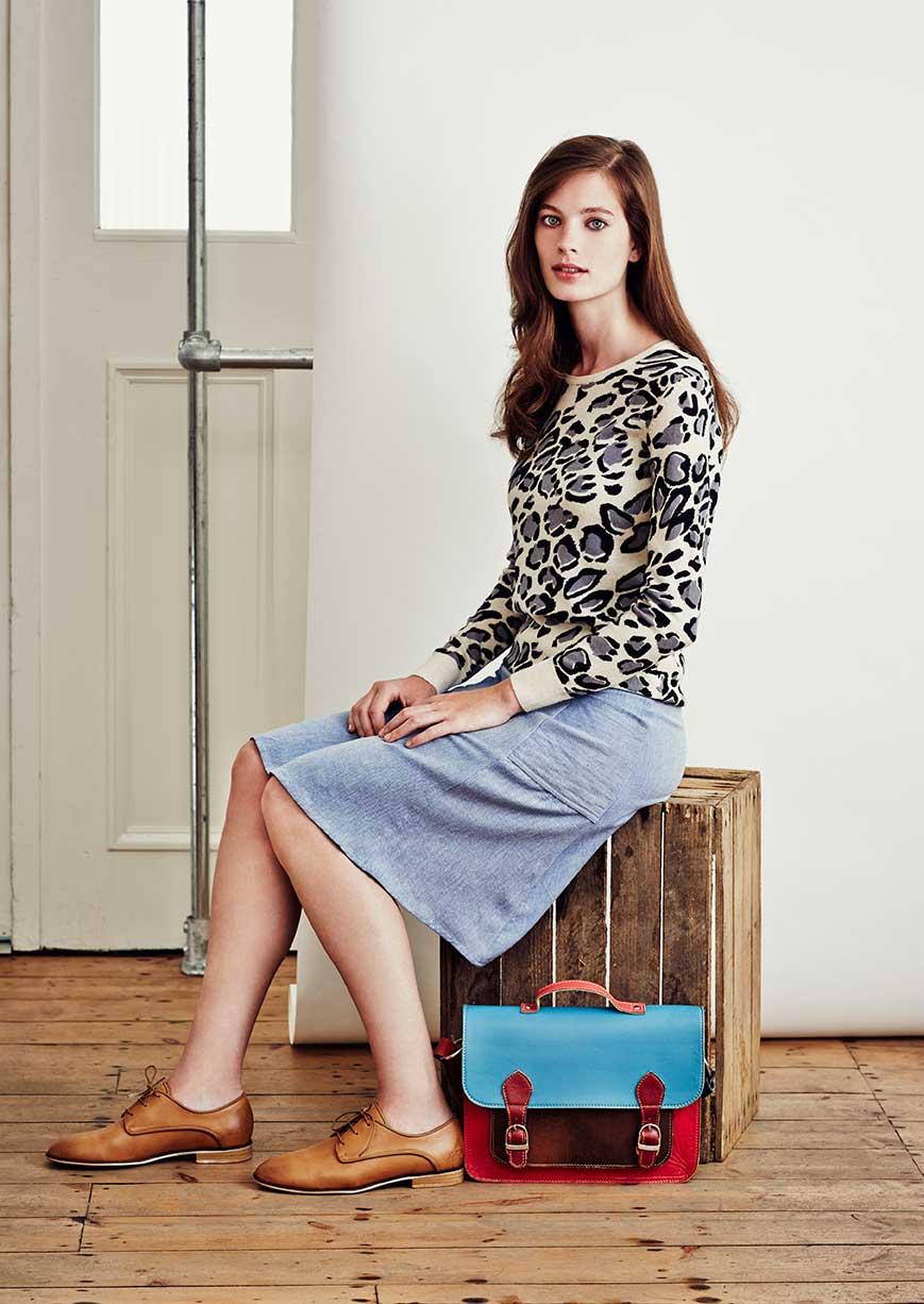 Leopart print jumper, £XX, FAIR+TRUE. www.fashion-conscience.com