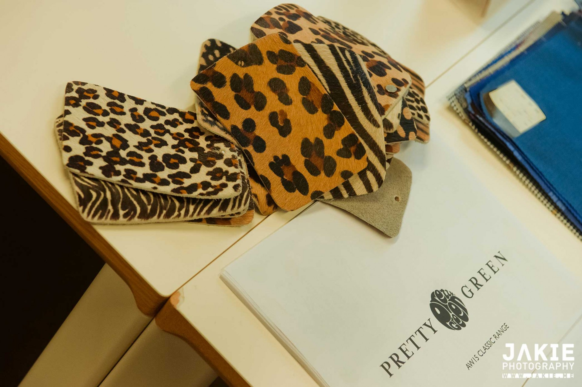 ' The ones with dots on the back are the ones Liam liked best.' Swatches at Pretty Green.