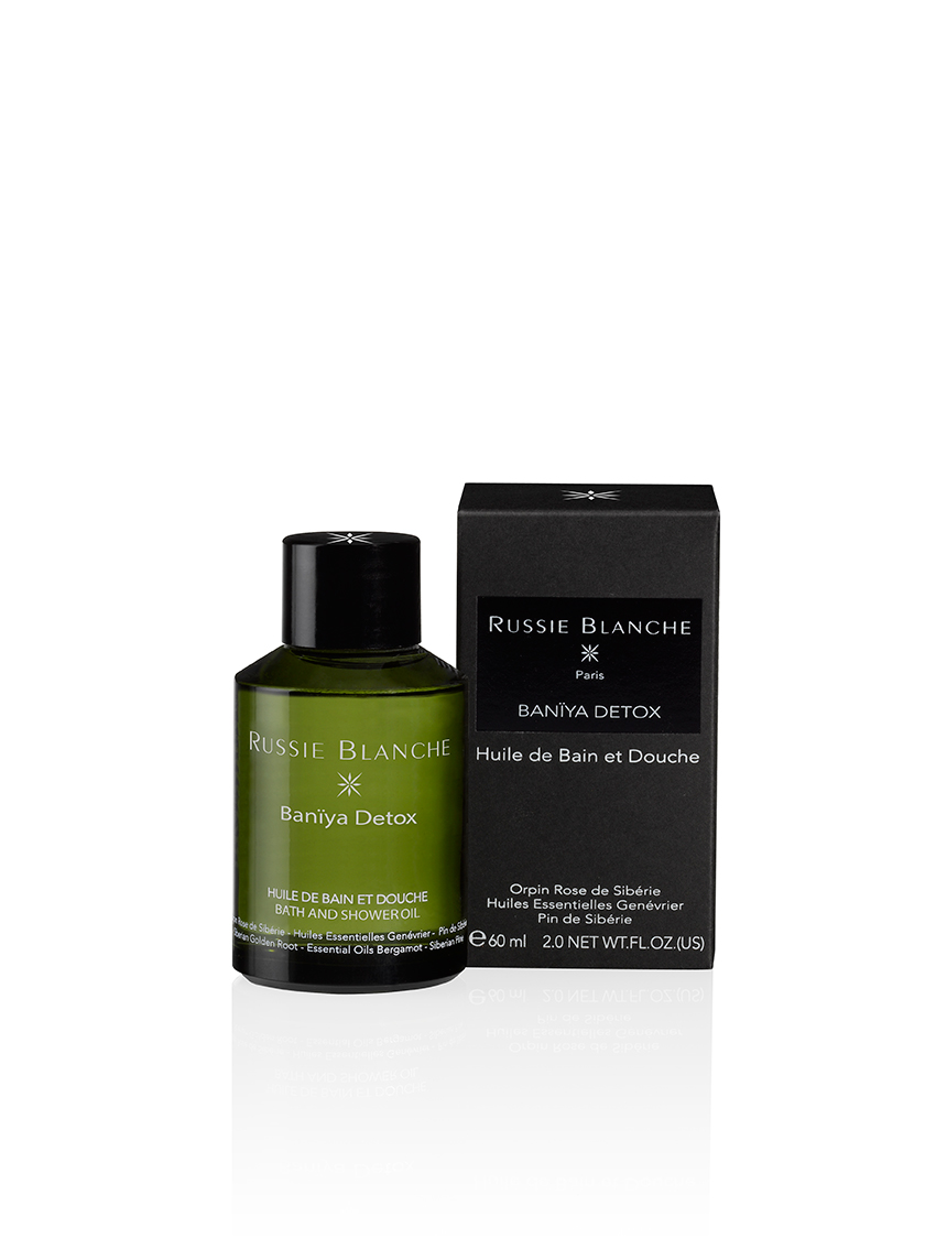 Detox bath and shower oil, £XX, Russie Blanche. www.russieblanche.com