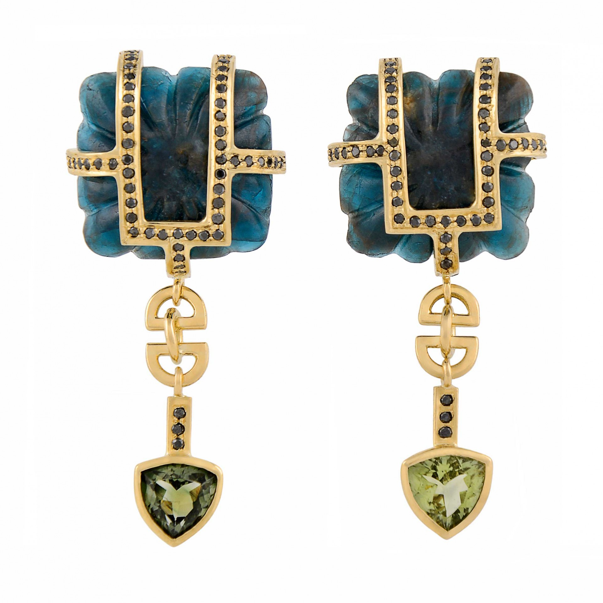 Concubine black diamond earrings, £11,400, Tessa Packard Jewellery.
