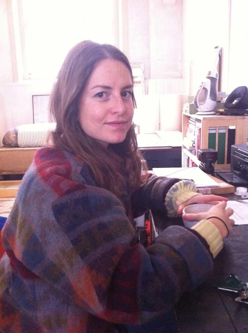 Adeline de Monseignat in her studio.