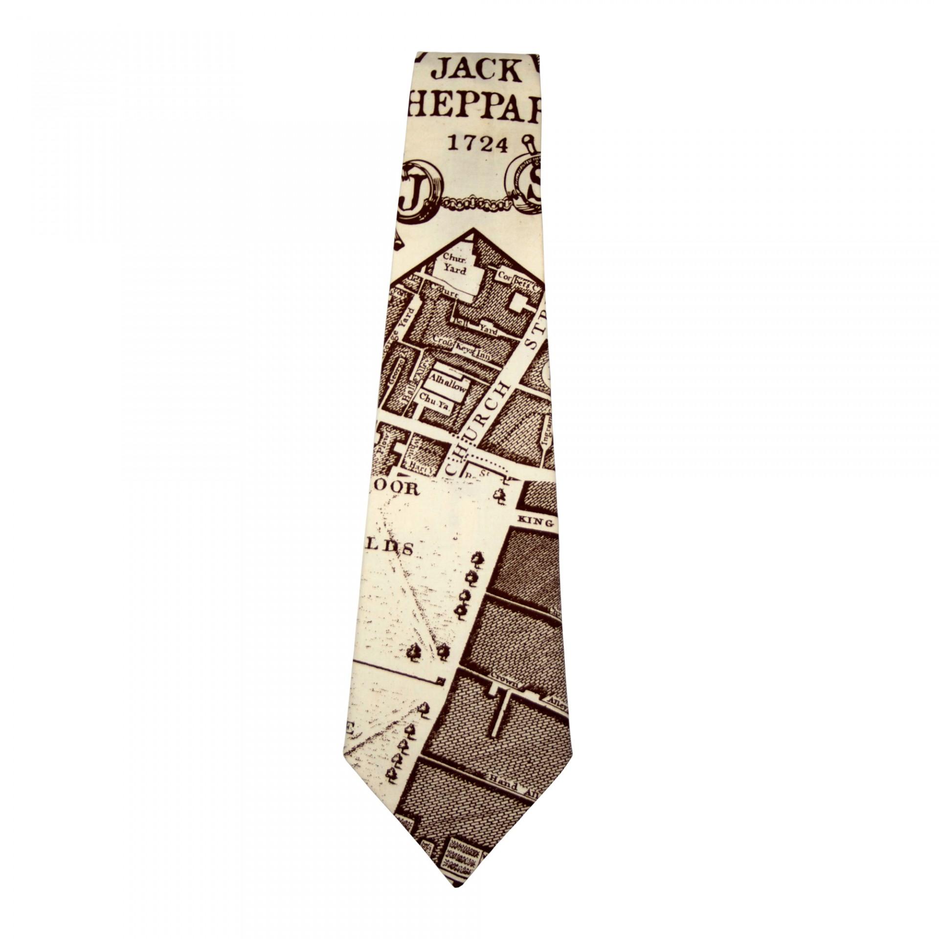Map tie, £XX, Jack Sheppard. www.achildofthejago.com
