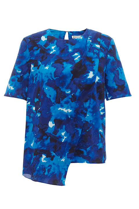 Marbled floral shell top, £125, Whistles. www.whistles.com