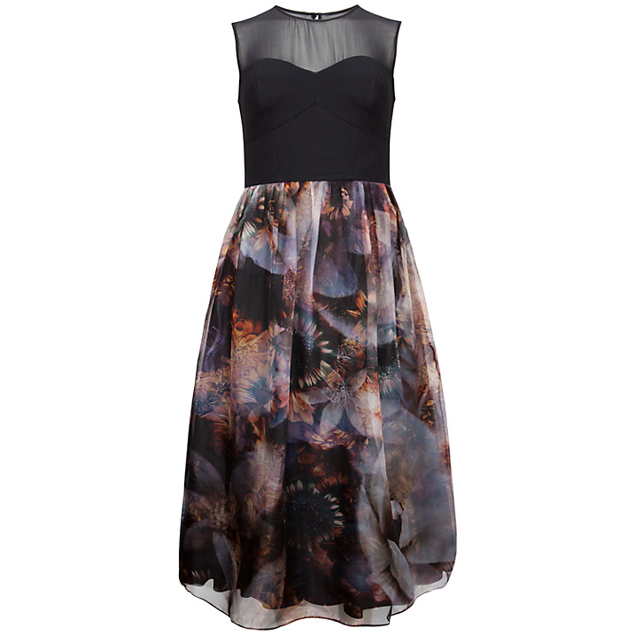 Karmyn Blooms Of Enchantment Silk Dress, £399, Ted Baker. www.johnlewis.com