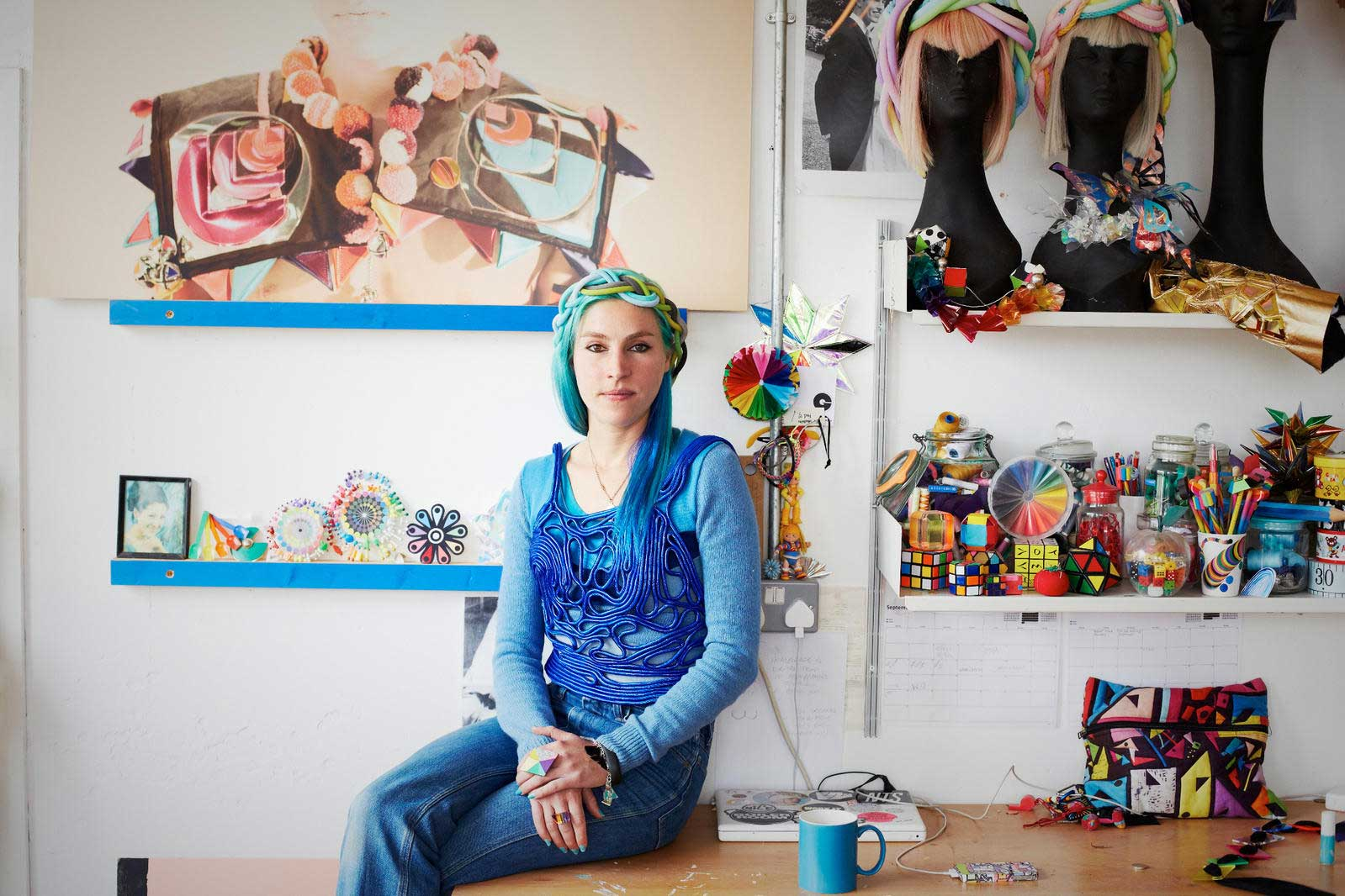Fred in her studio. Photographer: Jenny Lewis.