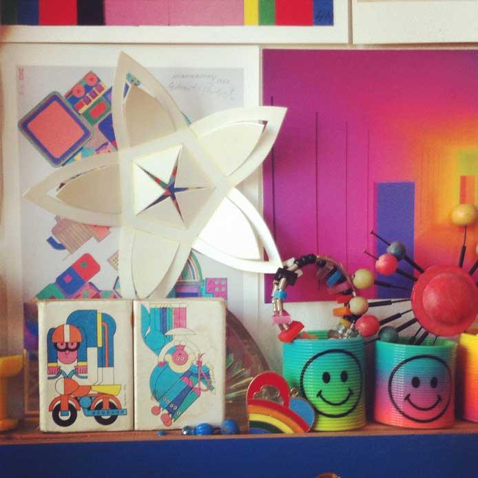 Inside Fred's studio