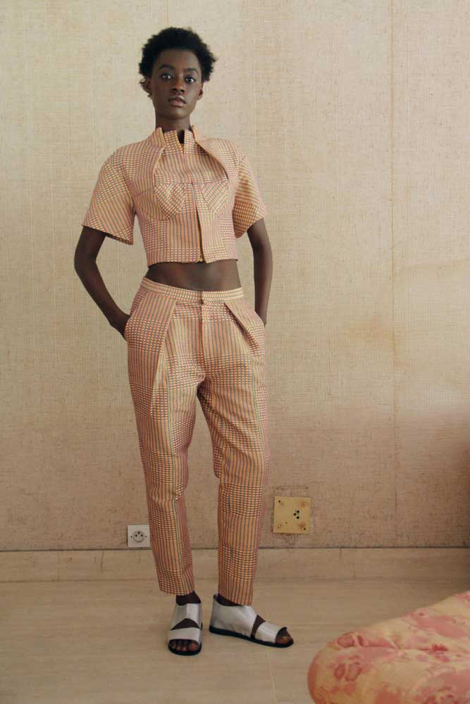 'Amazing, very tailored clothing.' Design by Loza Maleombho.