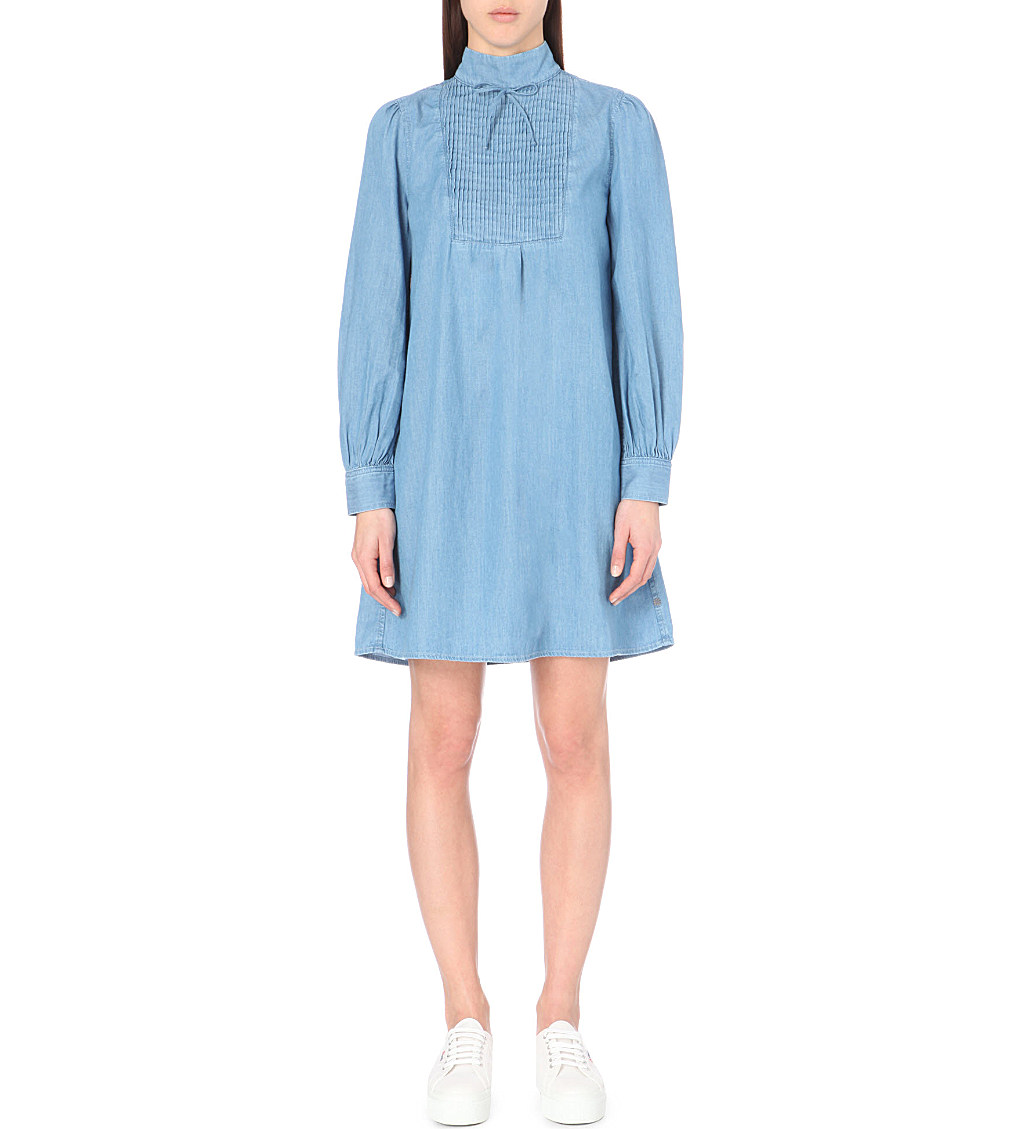 Julie pintuck denim dress, £245, Alexa Chung for AG. www.selfridges.com