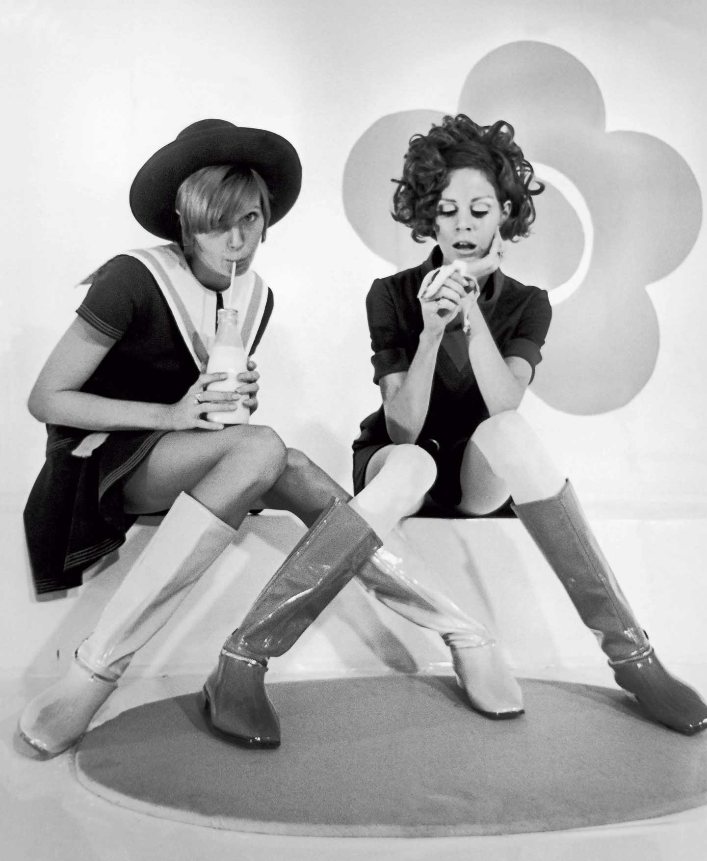 Mary Quant Fashion in 1967: The Models Murph And Jackie presenting Styles By Mary Quant At The Carlton Hotel Image courtesy Keystone-France/Gamma-Keystone via Getty Images