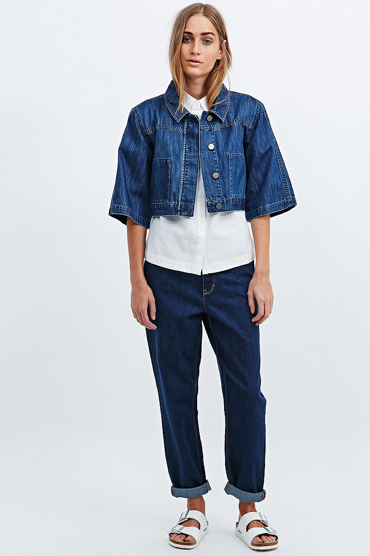 Cropped boy jacket, £48, Waven. www.urbanoutfitters.com