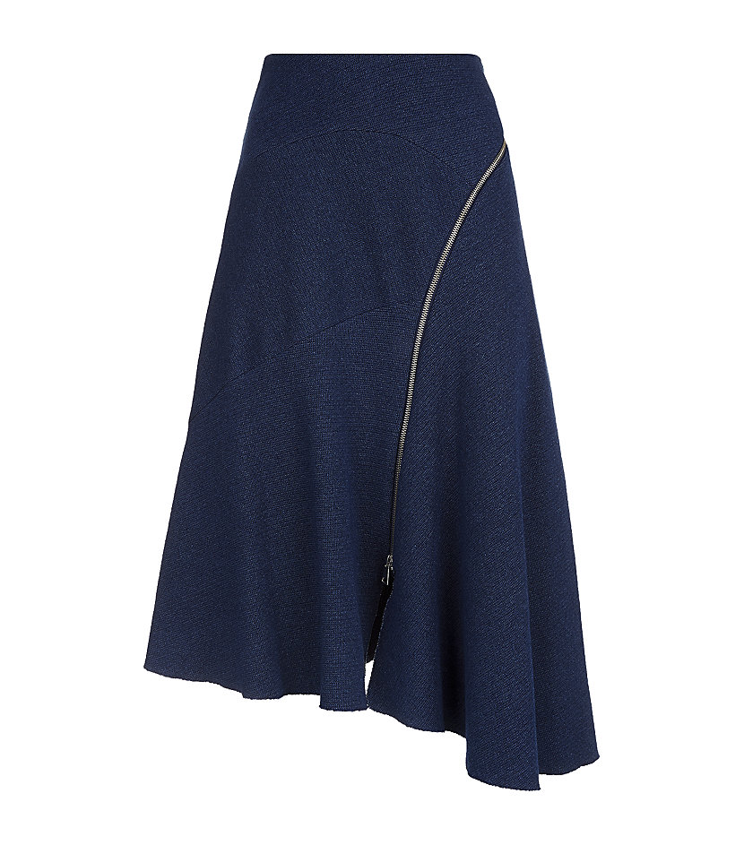 Textured Chambray Zip Skirt, £120, Whistles. www.harrods.com