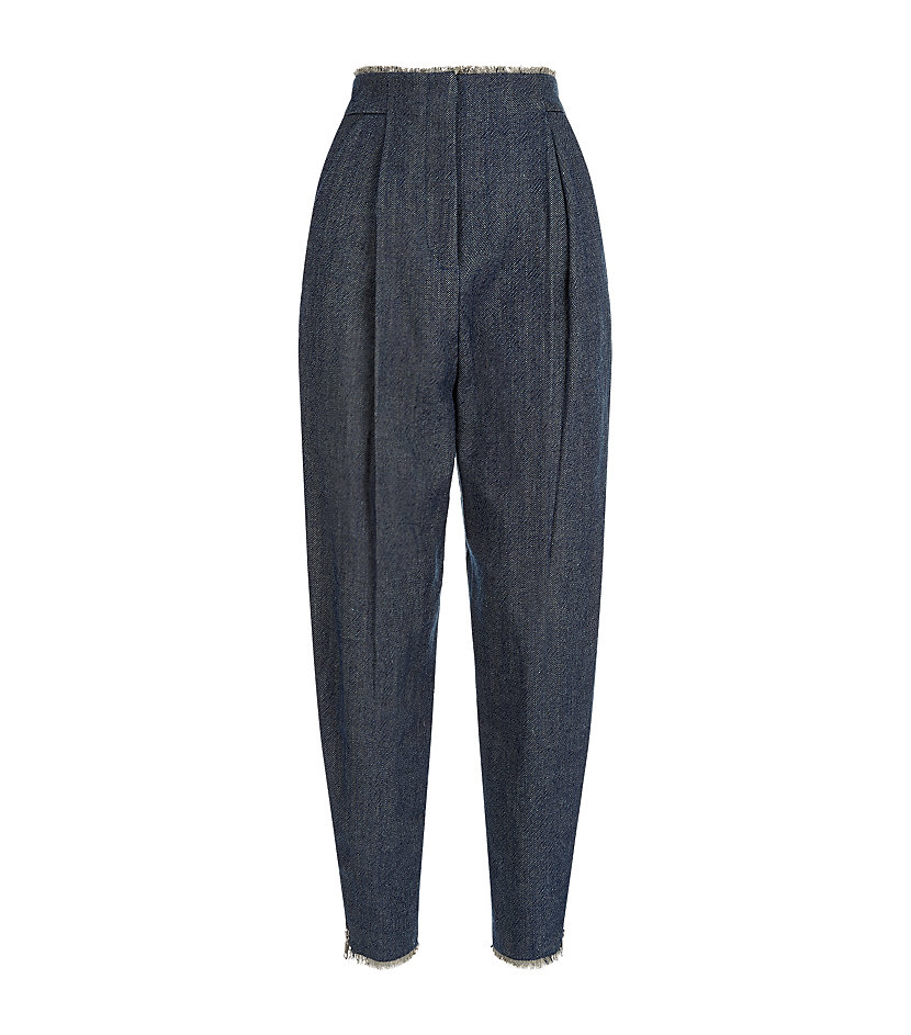Leander Frayed Denim Trousers, £230, Whistles. www.harrods.com