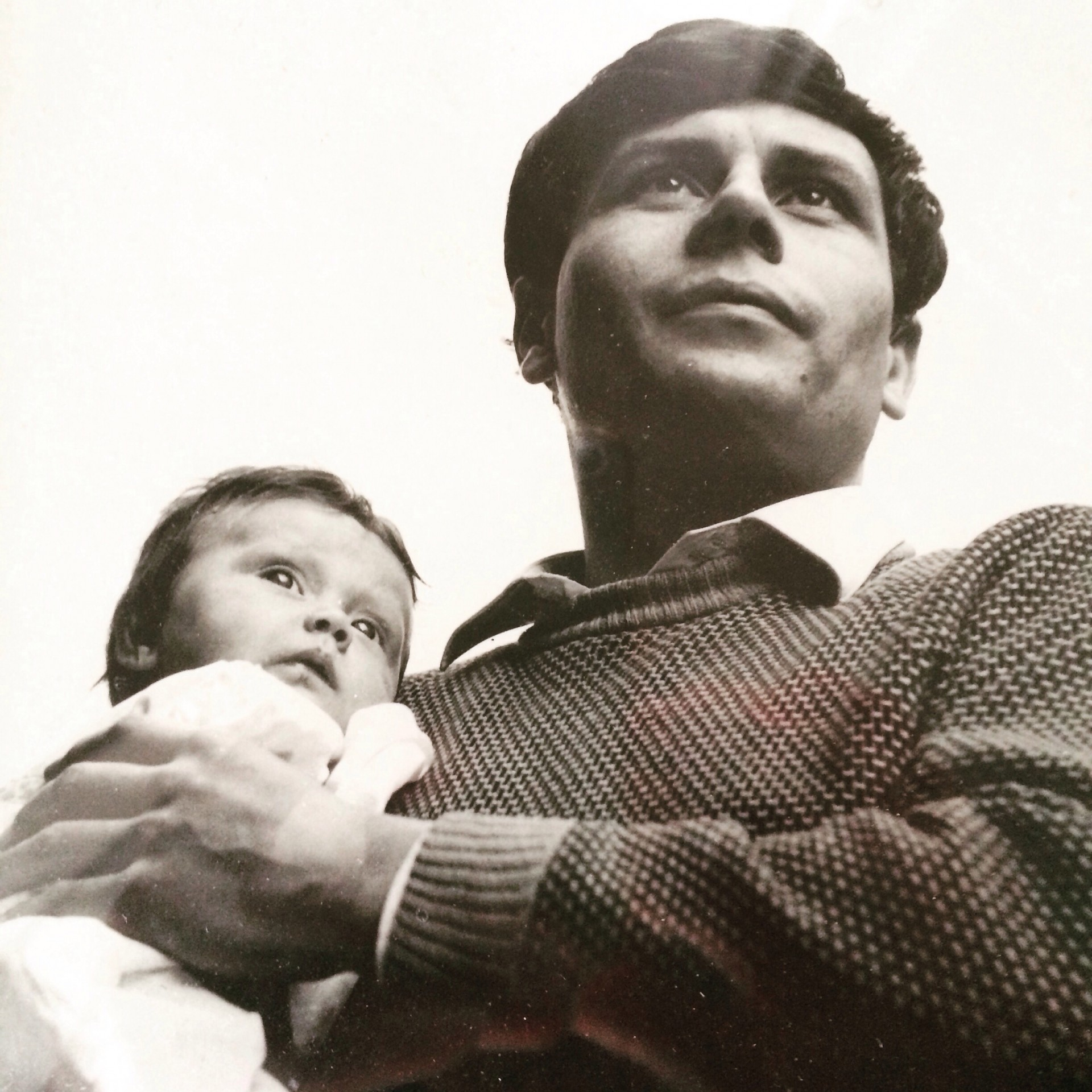 Helen Storey with her father. Photographer John Haynes.