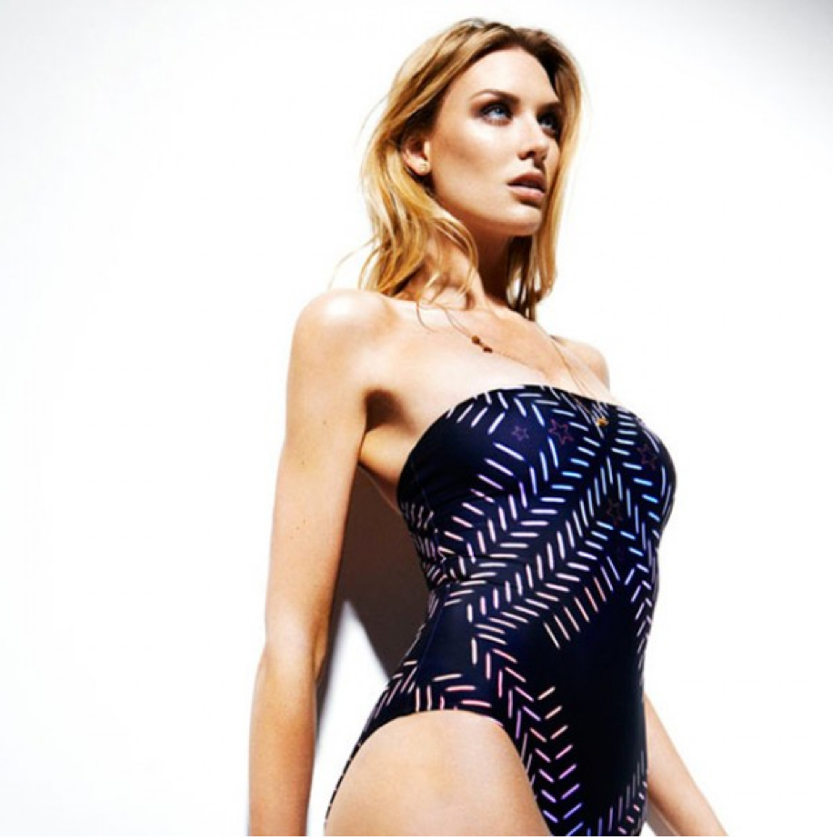 Five star love bandeau swimsuit, £180. www.lisakinglondon.com
