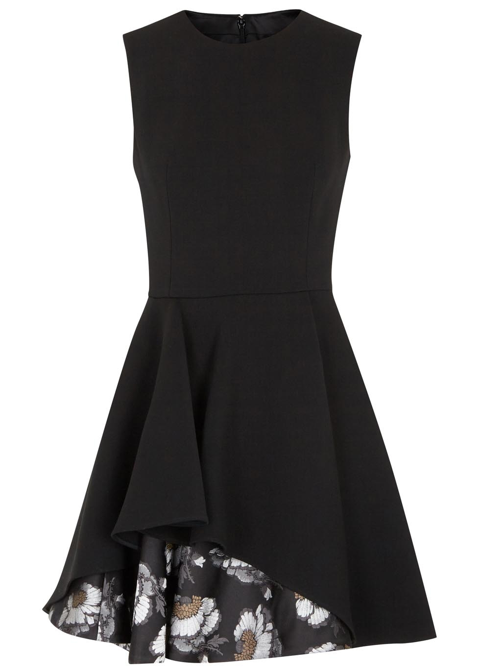 Black printed wool blend mini dress, 1,980.00, Alexander McQueen. www.harveynichols.com