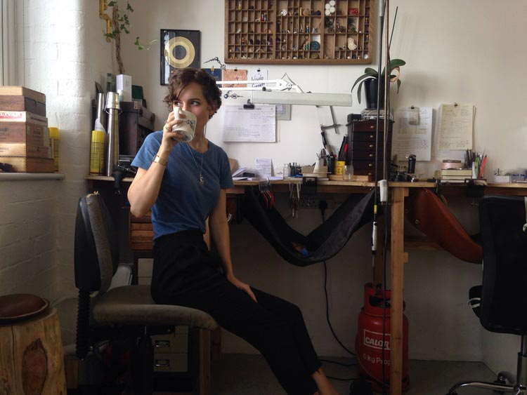 Clarice Price Thomas in her Hackney studio.