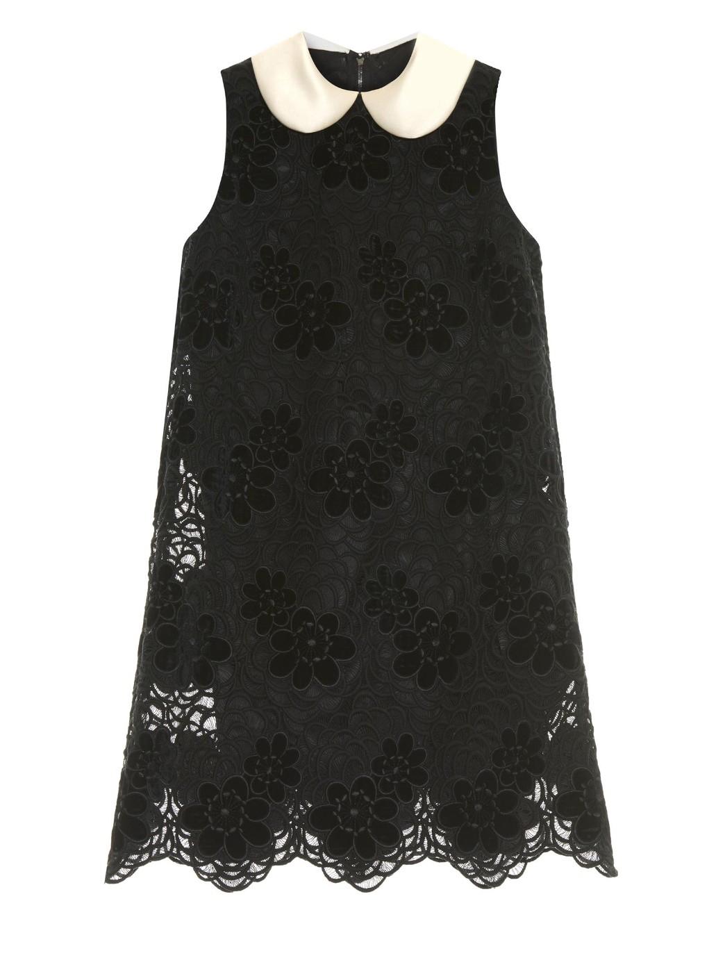 Satin collar lace dress, £2,300, Dolce & Gabbana. www.matchesfashion.com