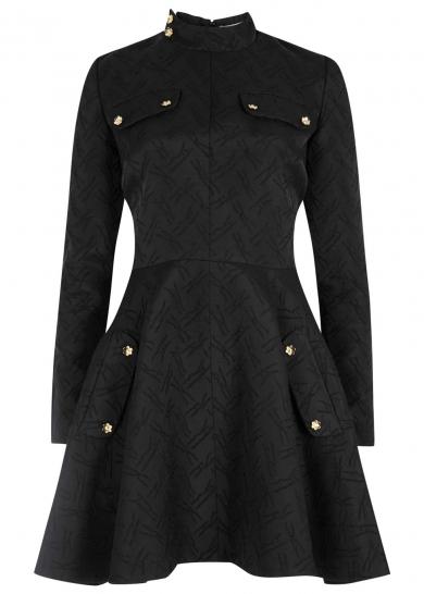 Black embroidered wool blend skater dress, £795, J W Anderson. www.harveynichols.com