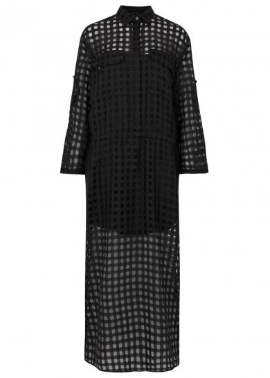 Black checked jacquard maxi dress, £1,245, Maison Margiela. www.harveynichols.com