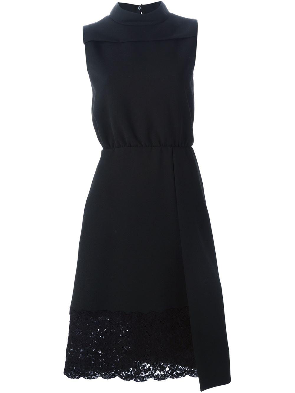 Lace hem asymmetric detail dress, £679.66, No. 21. www.farfetch.com
