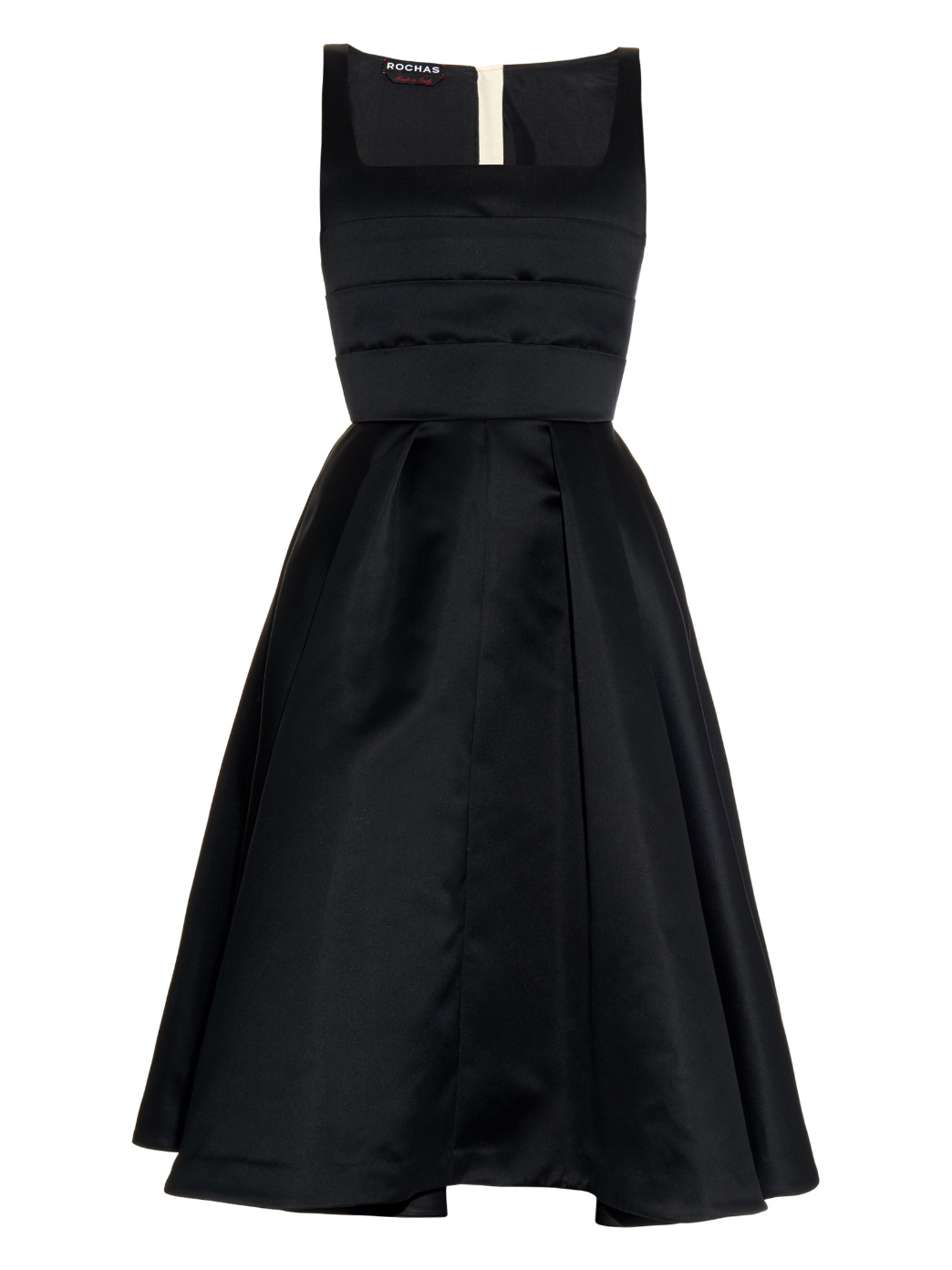 Pleated duchess satin dress, £1,405, Rochas. www.matchesfashion.com