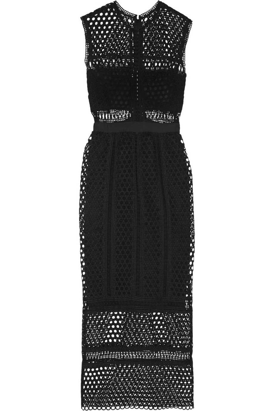Macrame lace midi dress, £300, Self-Portrait. www.net-a-porter.com
