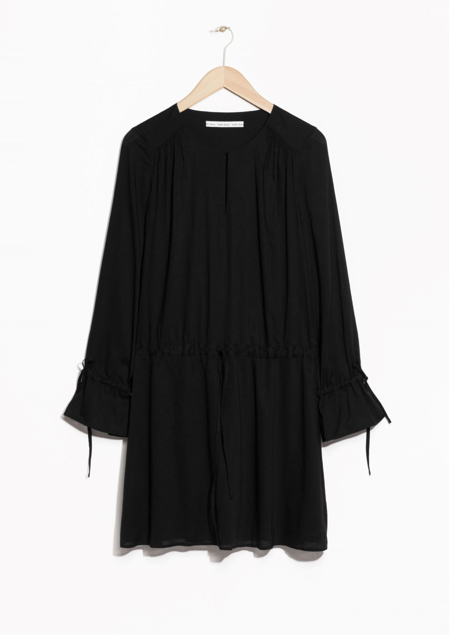 Gathered cuff dress, £55, & Other Stories. www.stories.com