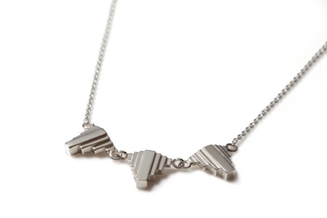 Triple Umbra Necklace Silver, £180. From the Metropolis Collection.