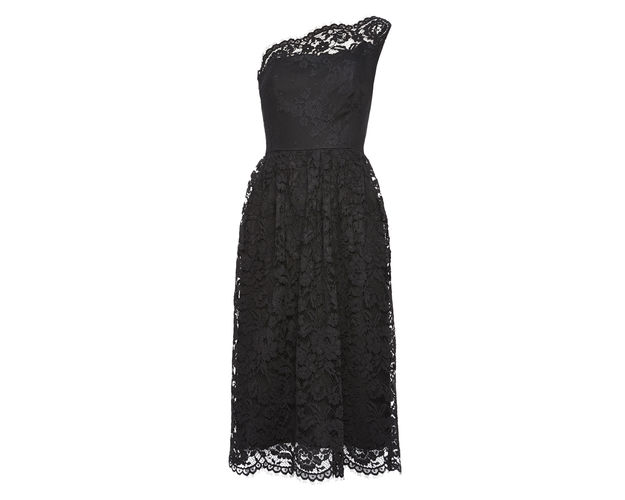One shoulder lace dress, £195, Whistles. www.whistles.com