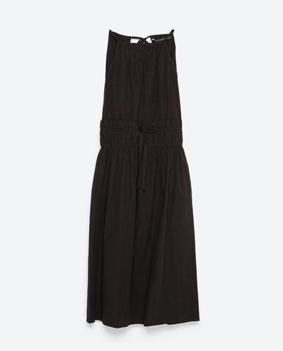 Dress with gathered waist, £25.99, Zara. www.zara.com