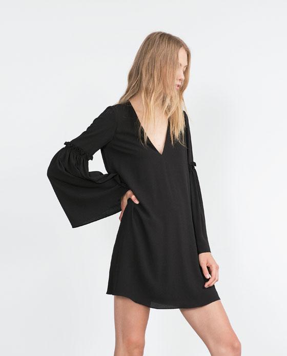 Bell sleeve dress, £25.99, Zara. www.zara.com