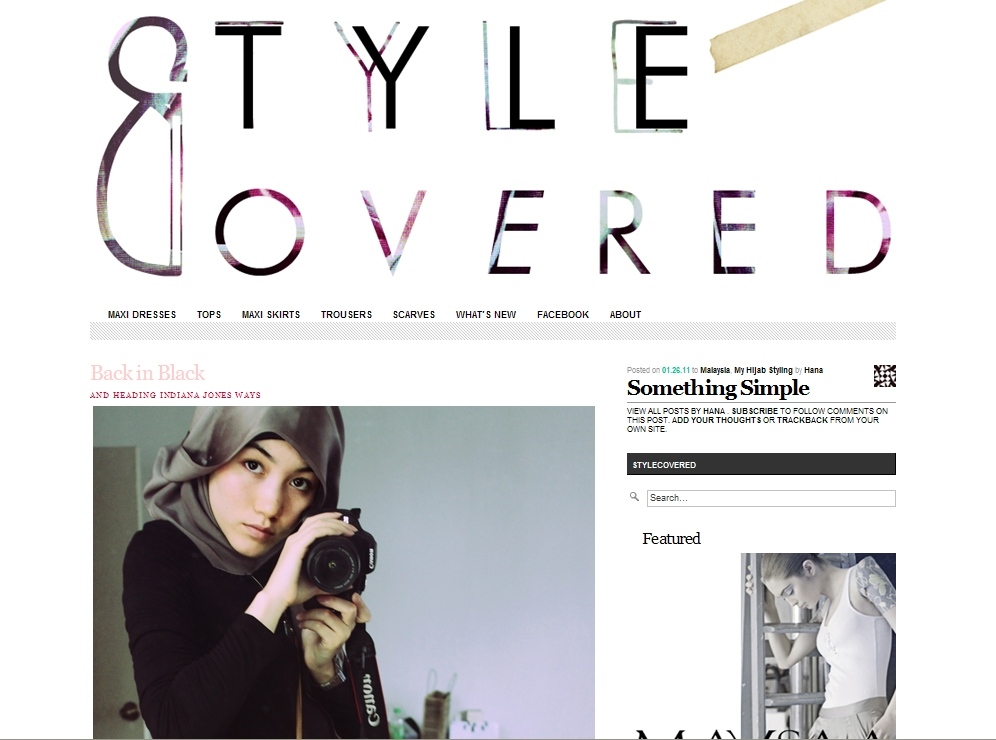 Front page of Style Covered, blog by Hana Tajima.