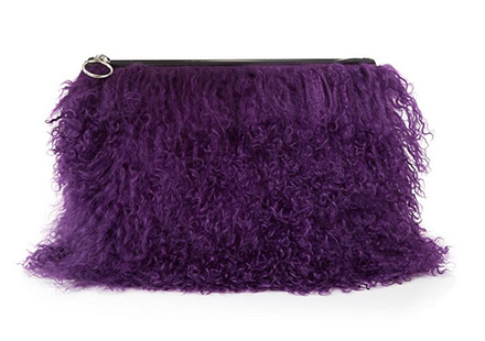 Mongolian Fur Clutch, £195, House of Holland. www.coggles.co.uk