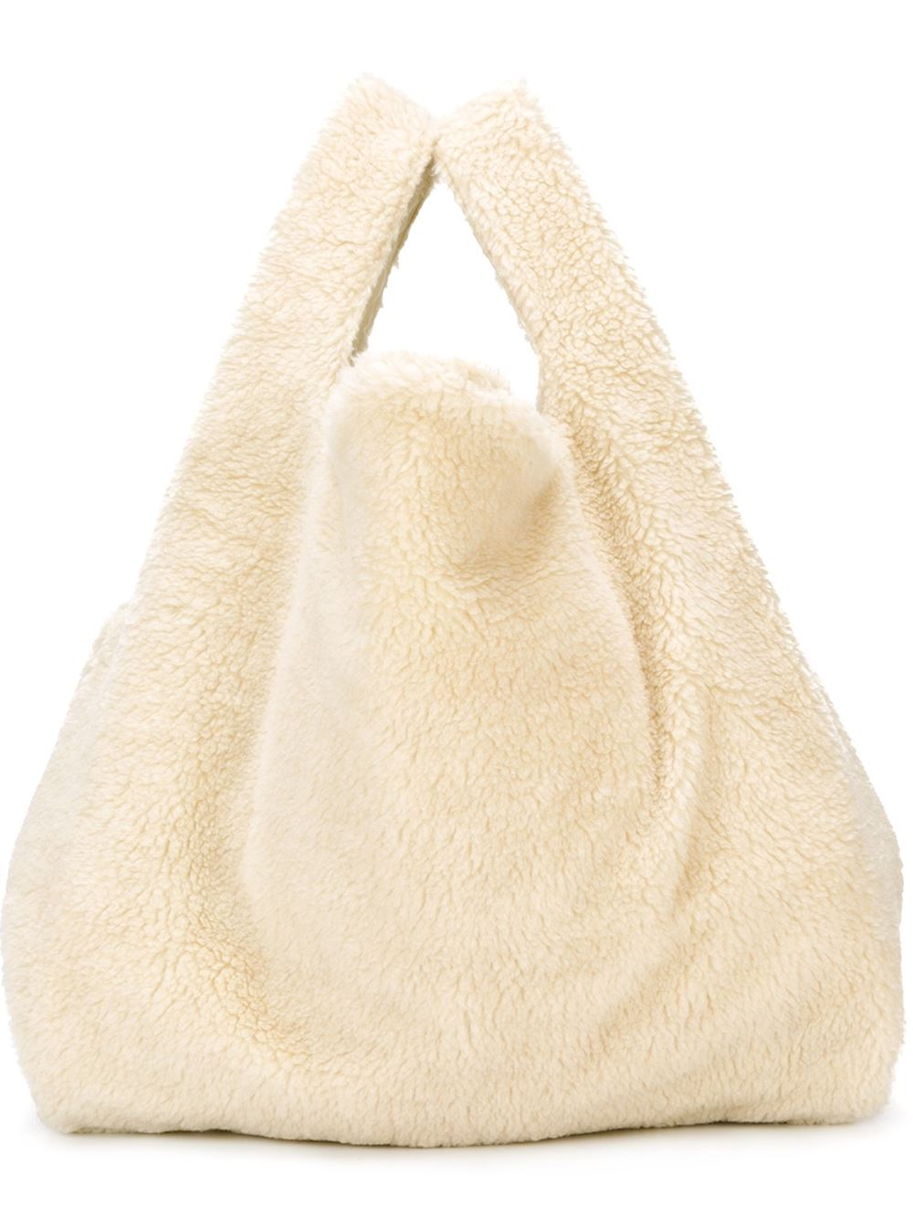 faux shearling shopper tote, £112.45, Mm6 Maison Margiela. www.farfetch.com