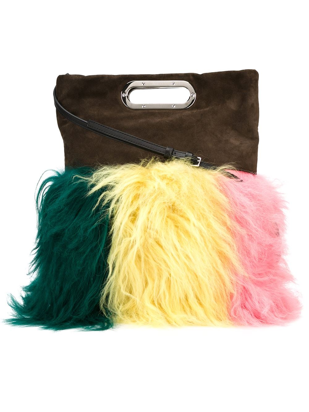 Fur detail shoulder bag, £1,250, Marni. www.farfetch.com