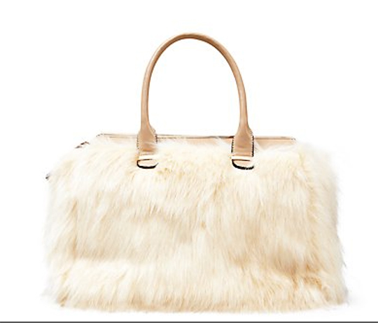 Cream Faux Fur Tote Bag, £34.99, New Look. www.newlook.com