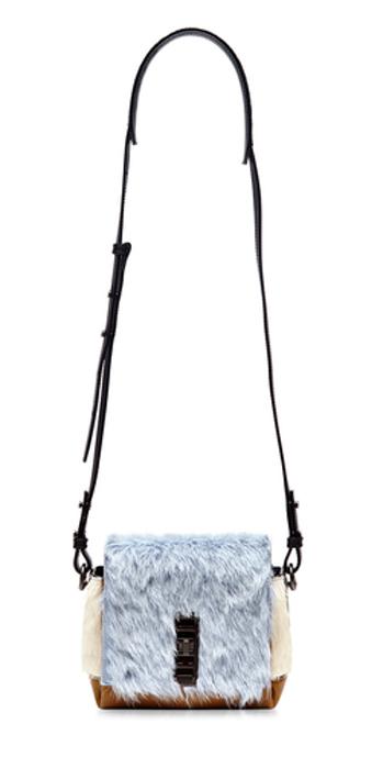Polar Blue Fur Mini Elliot Handbag, £1,236, Proenza Schouler. www.modaoperandi.com